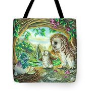 Ugly Duckling - Dragon Baby And Owls Tote Bag