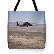 Uh-60 Black Hawk En Route To New Mexico Tote Bag