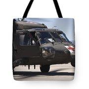 Uh-60 Black Hawk Refuels Tote Bag