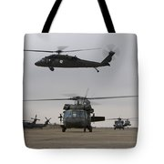 Uh-60 Black Hawks Taxis Tote Bag