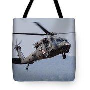 Uh-60a Black Hawk Medevac Helicopter Tote Bag