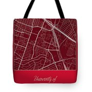 Uh Street Map - University Of Houston In Houston Map Tote Bag