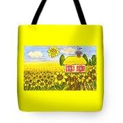Ukrainian House With Sunflowers Tote Bag