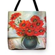 Ukrainian Poppies Tote Bag