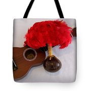Ukulele And Uliuli Tote Bag