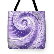 Ultra Violet Luxe Spiral Tote Bag