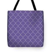 Ultra Violet Quatrefoil Tote Bag