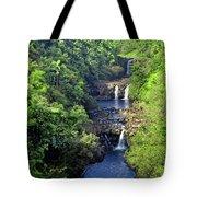 Umauma Falls Hawaii Tote Bag by Daniel Hagerman