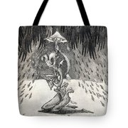 Umbrella Moon Tote Bag