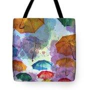 Umbrella Sky Tote Bag