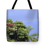 Umbrella Tree With Rainbow And Flower Tote Bag