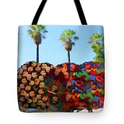 Umbrellas Day Of The Dead Paint  Tote Bag