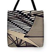 Umbrellas Sepia Tote Bag