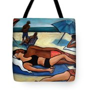 Un Journee A La Plage Tote Bag