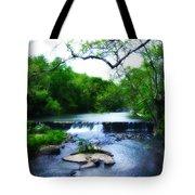 Unami Creek Dam Tote Bag