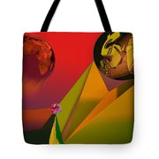 Unbalanced-the Source Of Violence Tote Bag
