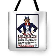 Uncle Sam -- I Am Telling You Tote Bag