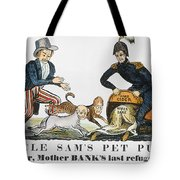 Uncle Sam: Cartoon, 1840 Tote Bag
