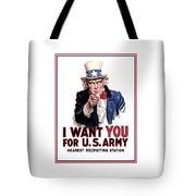Uncle Sam -- I Want You Tote Bag