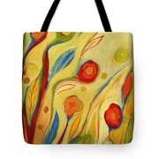 Under A Sky Of Peaches And Cream Tote Bag by Jennifer Lommers
