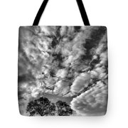 Under Cover In Black And White Tote Bag