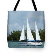 Under Full Sail Tote Bag