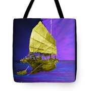 Under Golden Sails Tote Bag