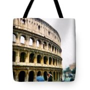 Under Pale Blue Umbrellas Tote Bag