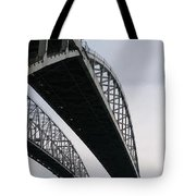 Under The Blue Water Bridge Tote Bag