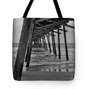 Under The Boardwalk Alantic Beaches Nc Tote Bag