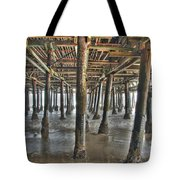 Under The Boardwalk Pier Sunbeams  Tote Bag