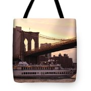 Under The Brooklyn Bridge  Tote Bag