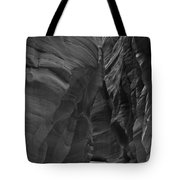 Under The Desert In Black And White Tote Bag