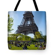 Under The Eiffel Tower, Paris Tote Bag