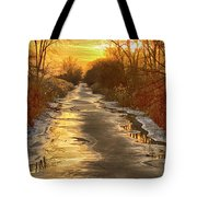 Under The Golden Sky Tote Bag