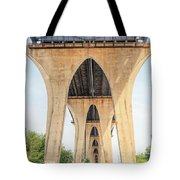 Under The Leo Frigo Bridge Green Bay  Tote Bag
