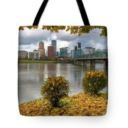 Under The Maple Tree In Portland Oregon During Fall Tote Bag