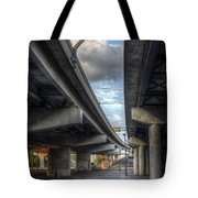Under The Overpass II Tote Bag by Break The Silhouette