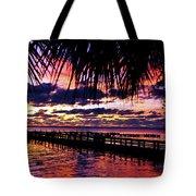 Under The Palms Sunrise Tote Bag