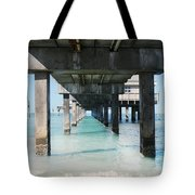 Under The Pier Tote Bag by Lynn Jackson