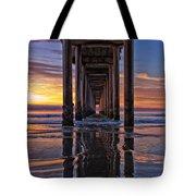 Under The Scripps Pier Tote Bag