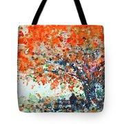 Under The Shade Of The Flamboyant Tote Bag