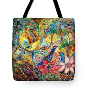 Under The Shadow Of Date Tree Tote Bag