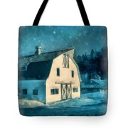 Under The Vermont Moonlight Watercolor Tote Bag