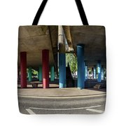 Under The Viaduct A Panoramic Urban View Tote Bag