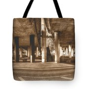 Under The Viaduct B Panoramic Urban View Tote Bag