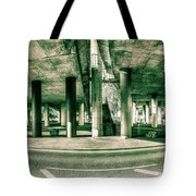 Under The Viaduct C Panoramic Urban View Tote Bag