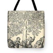Under The Village Linden Tree Tote Bag