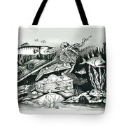Under The Water With Barrycuda Tote Bag
