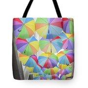 Under Umbrellas Tote Bag